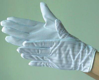 Găng tay vải chấm hạt nhựa